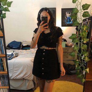 H&M Divided black button down skirt